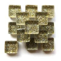 10mm Mini Glitter Tiles - White Gold - 50g