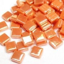12mm Square Tiles - Apricot Pearlised - 500g