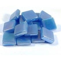 12mm Square Tiles - Baby Blue Pearlised - 500g