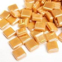 12mm Square Tiles - Butterscotch Pearlised - 50g