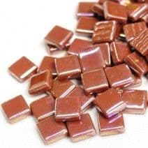 12mm Square Tiles - Caramel Pearlised - 500g
