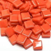 12mm Square Tiles - Coral Red Gloss - 500g