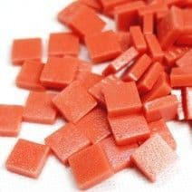 12mm Square Tiles - Coral Red Matte - 500g