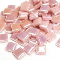 12mm Square Tiles - Dusky Pink Pearlised - 500g