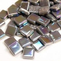 12mm Square Tiles - Grey Pearlised - 500g