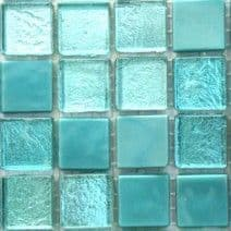 15mm Constellation Mix - Meridian Turquoise - 25 Tiles