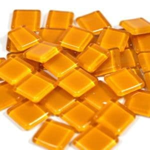15mm Glossy Squares - Amber - 100g