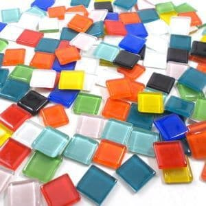 15mm Glossy Squares - Anything Goes  - 100g