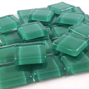 15mm Glossy Squares - Emerald Green - 100g