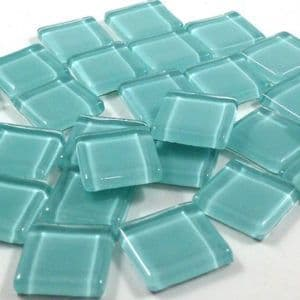 15mm Glossy Squares - Mint Green  - 100g
