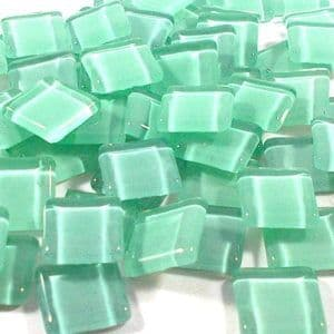 15mm Glossy Squares - Pale Green - 100g