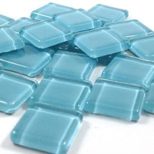 15mm Glossy Squares - Pale Turquoise - 100g