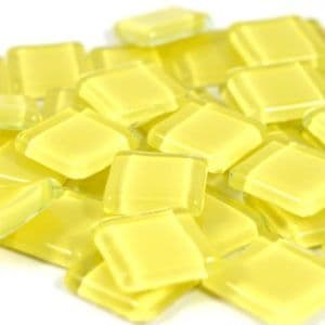 15mm Glossy Squares - Pastel Yellow - 100g
