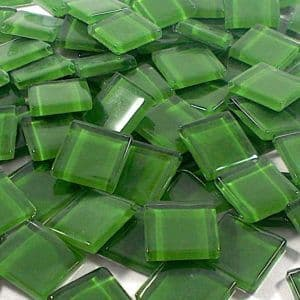 15mm Glossy Squares - Pine Green - 100g