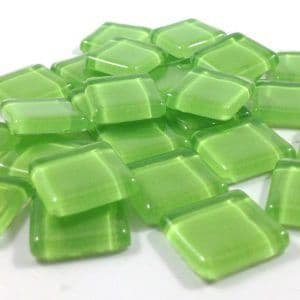 15mm Glossy Squares - Sage Green - 100g