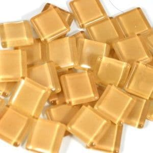 15mm Glossy Squares - Sand - 100g