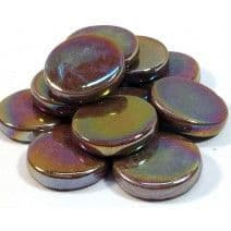 18mm Round - Chocolate Pearlised - 500g