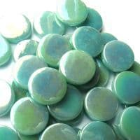 18mm Round - Jade Green Pearlised - 500g