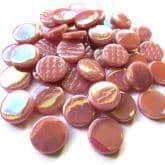 18mm Round - Light Raspberry Pearlised - 500g