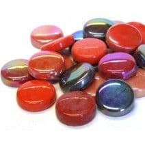 20mm Round Tiles - Red Mix - 50g