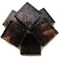 20mm Square Tile - Black Foil - 49 Tiles