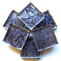 20mm Square Tile - Cobalt Foil - 49 Tiles