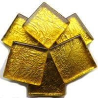 20mm Square Tile - Deep Gold Foil - 49 Tiles
