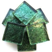 20mm Square Tile - Emerald Foil - 49 Tiles
