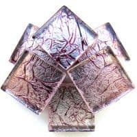 20mm Square Tile - Garnet Foil - 49 Tiles