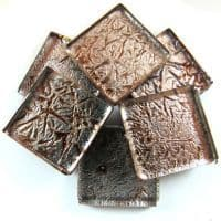 20mm Square Tile - Pewter Foil - 49 Tiles