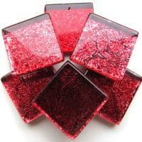 20mm Square Tile - Rose Foil - 49 Tiles