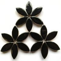 25mm Ceramic Petals - Black - 50g