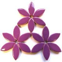 25mm Ceramic Petals - Purple - 50g