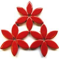 25mm Ceramic Petals - Red - 50g