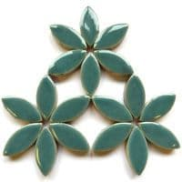 25mm Ceramic Petals - Teal Green - 50g