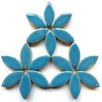 25mm Ceramic Petals - Thalo Blue - 500g
