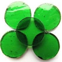 25mm Circle - Acid Green - 5 pieces