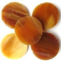25mm Circle - Butterscotch - 5 pieces