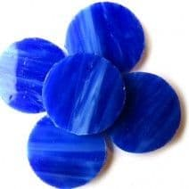 25mm Circle - Lapis Lazuli - 5 pieces