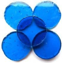 25mm Circle - Turquoise - 5 pieces