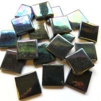 25mm Square Tile - Black Pearlised - 50g
