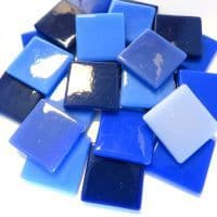 25mm Square Tile - Blue Suede Shoes - 50g