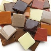 25mm Square Tile - Coffee and Cream - 50g