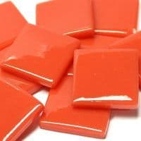 25mm Square Tile - Coral Red Gloss -50g