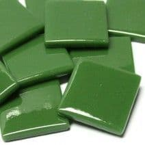 25mm Square Tile - Dark Green Gloss - 50g