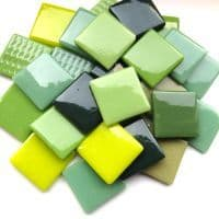 25mm Square Tile - Fields of Green - 50g