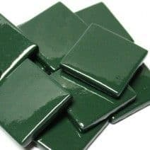 25mm Square Tile - Forest Green Gloss - 50g