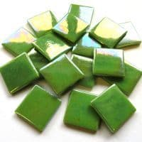 25mm Square Tile - Green Grass Pearlised - 50g