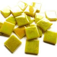 25mm Square Tile - Lemon Pearlised - 50g