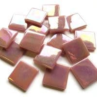25mm Square Tile - Light Raspberry Pearlised - 50g